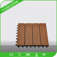 JFCG 2016 mothproof wood plastic composite wpc square decking with natural wood decking design