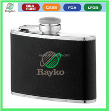 High quality leather wine carrier,attractive hip flask customized leather sleeve