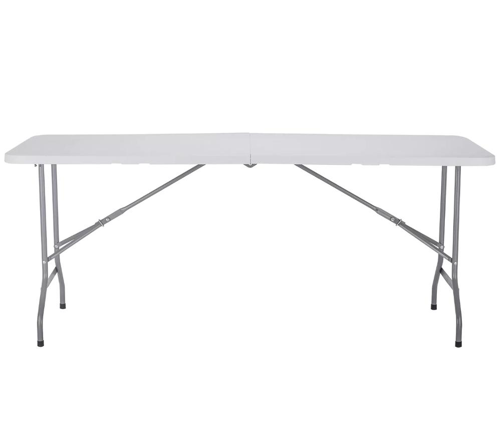 8-Foot rectangle light commercial plastic folding banquet <strong>tables</strong> wholesale