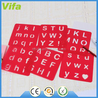 plastic drawing letter stencil set