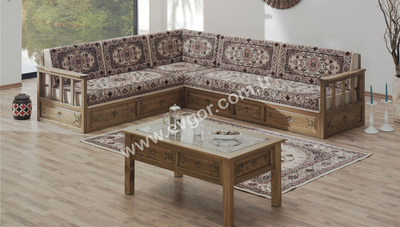 High Quality Economic Antique Cheap Luxury Davraz Corner Sofa Set