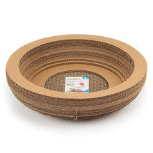 Pet Supplies Bowl Shape Corrugated Paper Cat Scratcher Wholesale