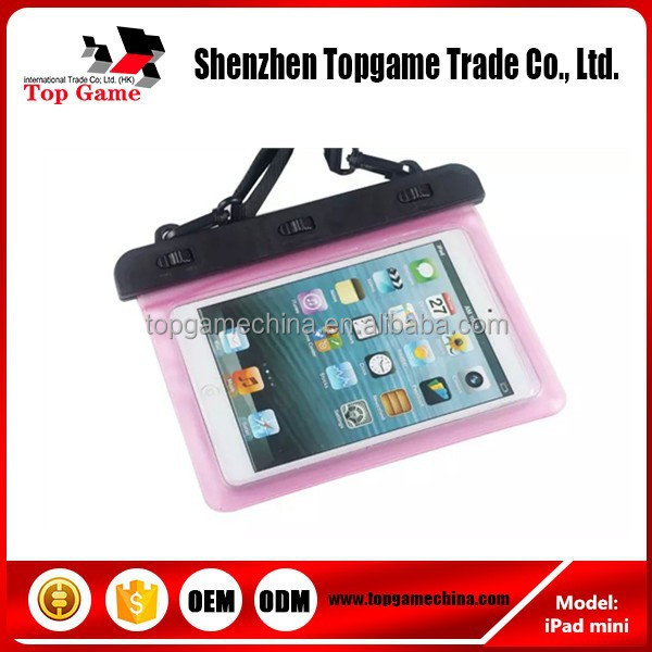 pvc waterproof waist bag, waterproof case for ipad mini