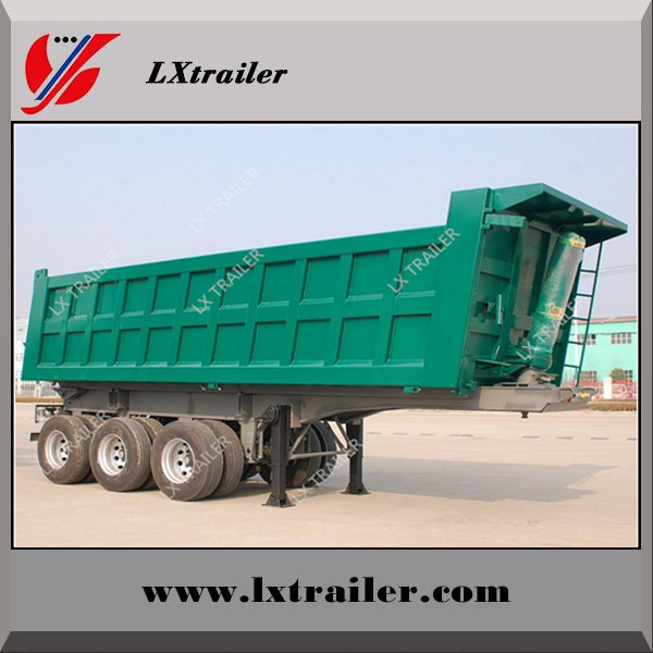 3 axle dump truck / tipper dump trailer with hydraulic cylinder