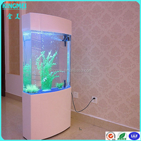 Shenzhen manufacturer Super Big size fish tank aquarium,oval Acrylic Aquariums with LED