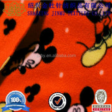 Fashion mickey mouse printed polar fleece fabric for baby blankets and toys
