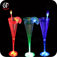 China Craft Supplies Holiday Decoration Plastic Champagne Cup