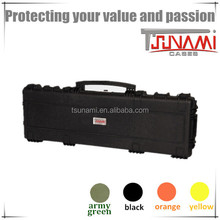 hard plastic gun box with handle waterproof rifle case plastic musical instrument protective case