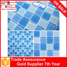 300x300x4mm swimming pool crystal glass mosaic tiles for sale