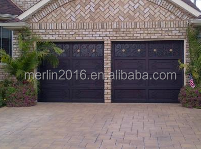 Wrought Iron Garage Door Panels for Exterior Automatic Electric Motor Car Entry door