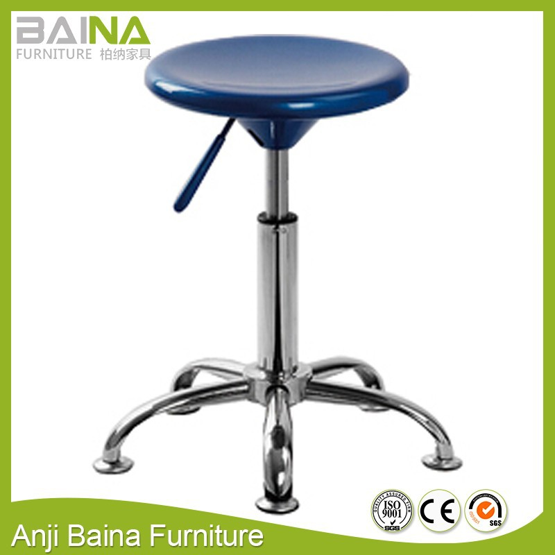 Plastic swivel chair no wheels with foot nail