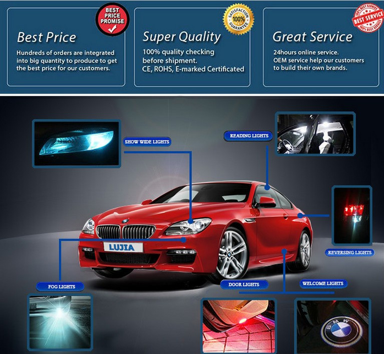Super Bright All-in-One 60W 6600lm L7 Creee XHP70 H7 LED Car Headlight Bulbs H7 PX26D LED Head Light Conversion Kits