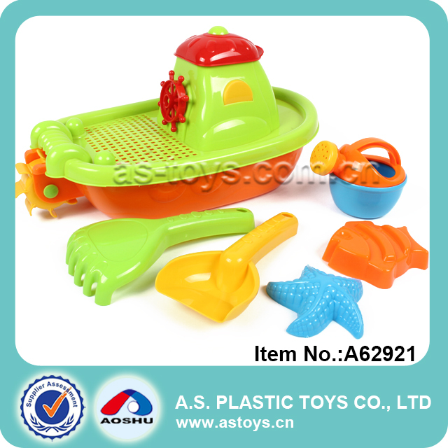 Summer play 6 pieces beach set starfish model beach boat toy for kids