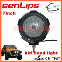 high power senlips 7inch 35W hid driving lamp spot/flood 4wd 3200LM for truck boat suv atv