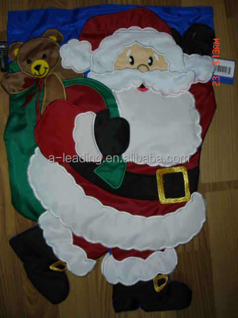 Good Quality Embroidered or Printed Custom Flags For Christmas Garden Decoration