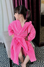 Pink Microfiber Embroidery Girls Evening dressing Gowns