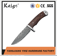 DK2030DR Damascus Steel Wood Handle Fixed