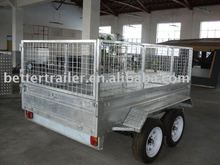 hot dipped galvanized tandem cage trailerBT-CT125