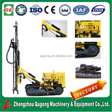 25m Hydraulic rotary crawler borehole drilling rig for quarry