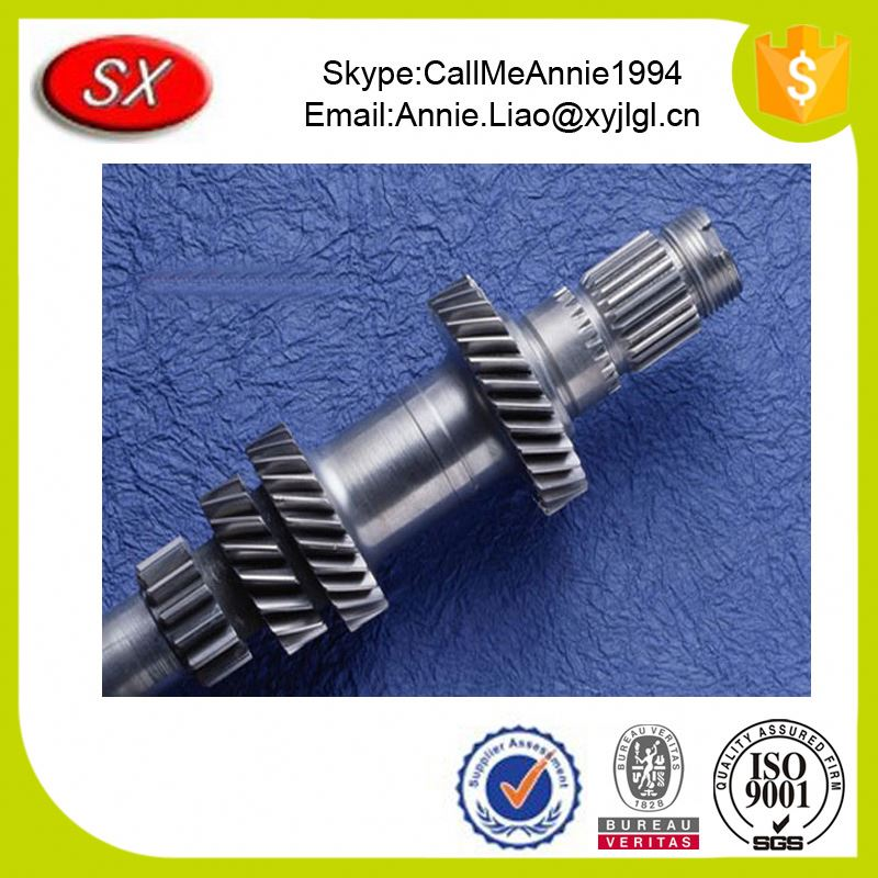 Custom manufacturing mechanical parts from drawings Perforated Gears shaft