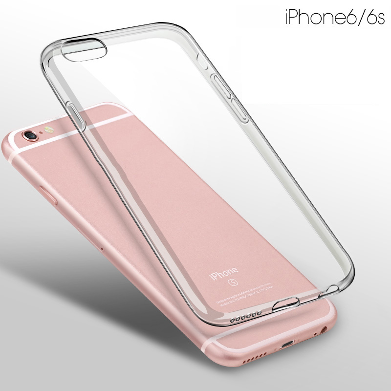 Hot Selling Ultra-thin for iPhone 6 6S Clear TPU Case 4.7 / Gel Transparent Cell Phone Case