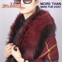 Silver/Rose Genuine Natural Fox Fur SCARF for Women Coat Wrap