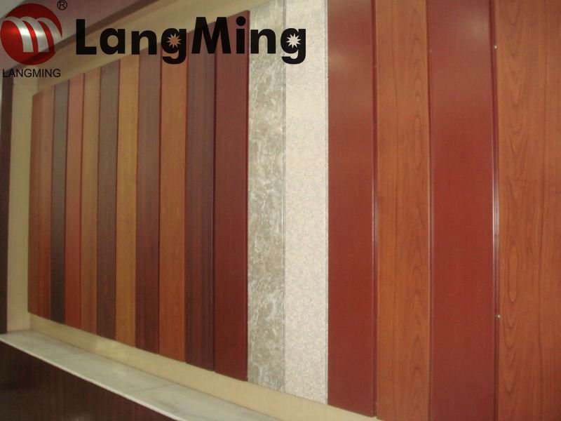 PE/PVDF color coated aluminium coil & aluminum sheet wood grain