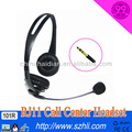 101D intelligent flexible rubber boom stylish DC plug call center headset