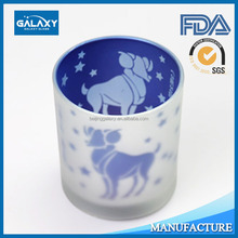 Low price of electroplate glass candle JAR in different sizes and colorsmade in China