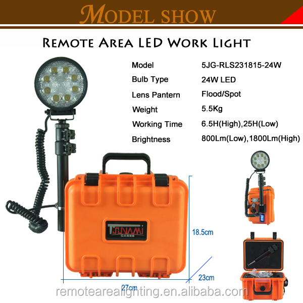tsunami case light lighting tower system with USB interface24W Super Brightness led emergency light with Black case
