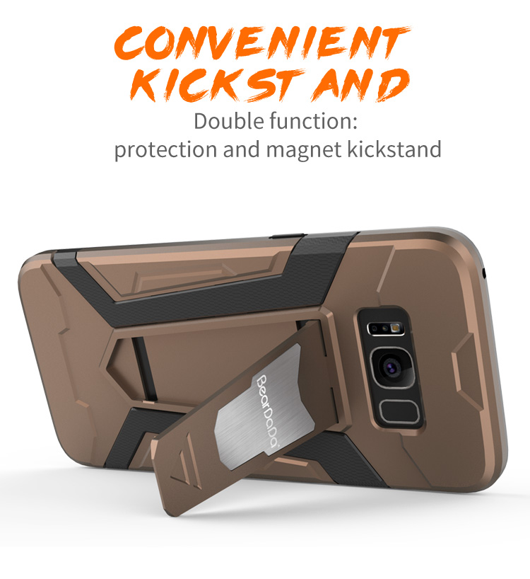Latest High Quality tpu pc kickstand cell phone covers for s8.for samsung s8 caes