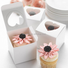 Heart PVC Window Clear White Cake Boxes Sweet Paper Box New(LD327)