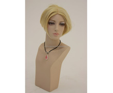 make up manikin heads with wig hair