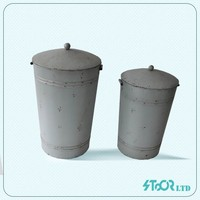 Outdoor roman style bright color metal flower pot