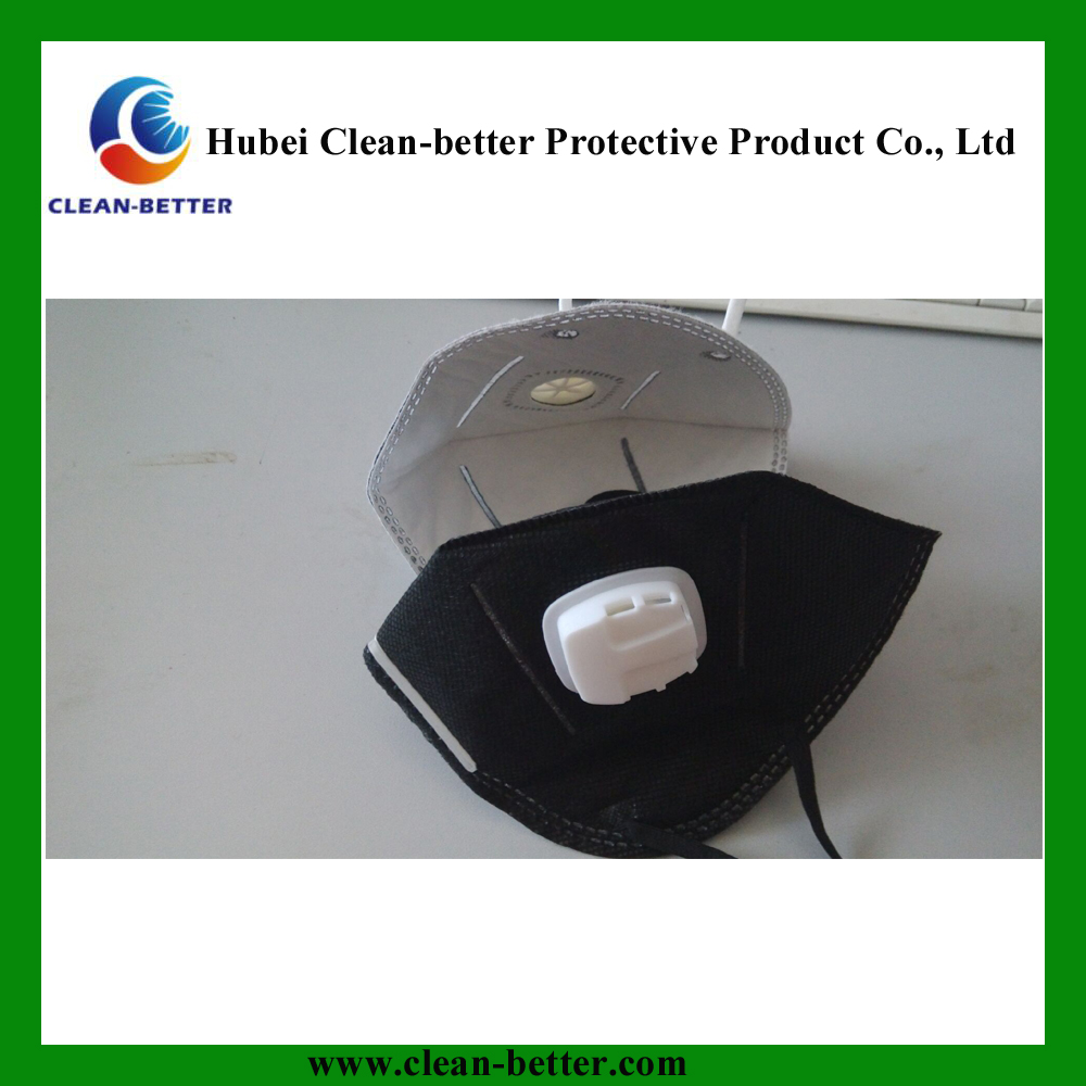 high quality disposable 3ply nonwoven ear loop face mask black respirator 3m n95 anti dust mask