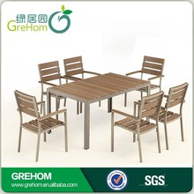 plastic wood patio furniture for restaurant