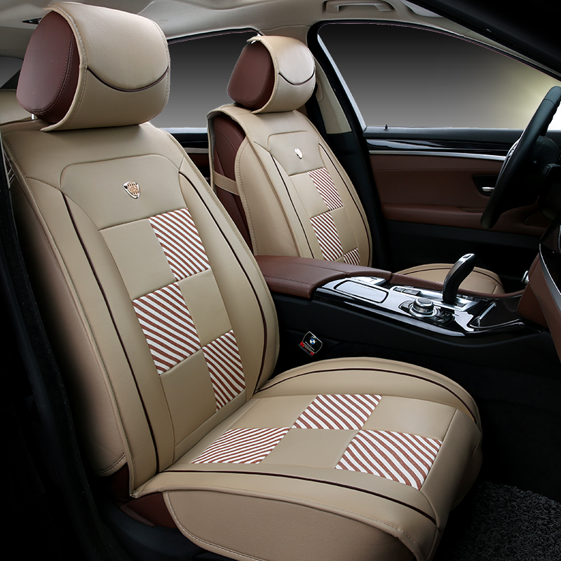 block striped car seat cushion toyota camry interior