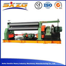 W11 3 roller series 4*1500 manual small sheet metal rolling machine and cone rolling machine for bending