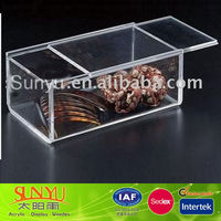 Durable Square Acrylic Display Case Clear Acrylic Jewelry Case Storage Case