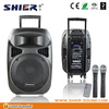 15 Inch Portable Trolley Style Battery Powered PA Speaker metal speaker grill material