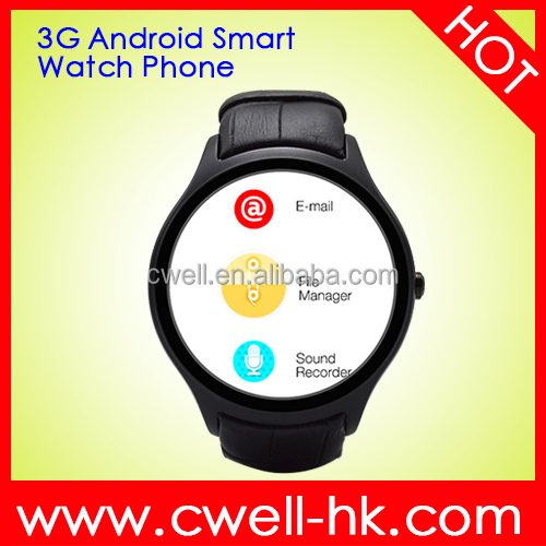 X1 Round LCD Display Heart Rate Monitor Watch Phone Android WIFI 3G WCDMA GPS Predometer Function Leather Strap