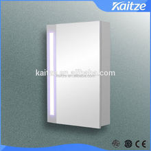 LED illuminated Bathroom Cloakroom Gloss White Mirror Cabinet with led lights