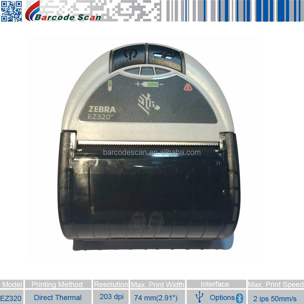 Wireless Bluetooth Printer Zebra EZ320 Mobile Printer