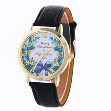 Best Wishes for Christmas Gifts Watch 7 Color Beautiful Children Friends Bow Print Wristwatch