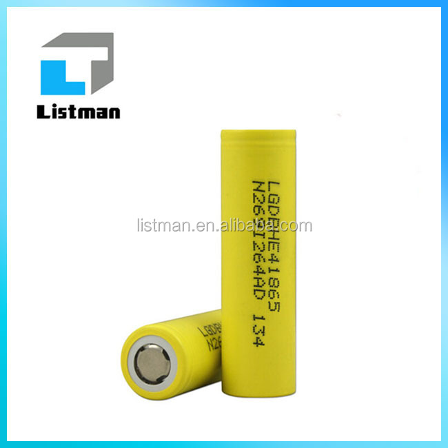 LG 18650 He4 3.6V Battery 2500mAh 35A/High Drain LG 18650 He4 Battery Cigarette Power Tools