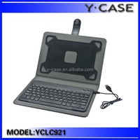 High quality PU leather 11.6 inch tablet pc leather keyboard case
