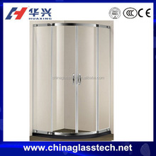 water resistance sound insulation anodic oxidation aluminium frame frosted glass bathroom door