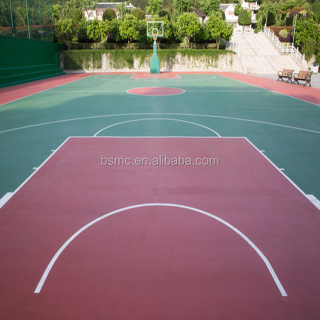 Decorative concrete surface basketball court flooring coating