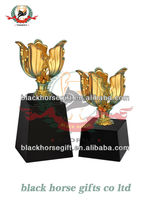 2014 new design trophy medal metal with wooden gift box