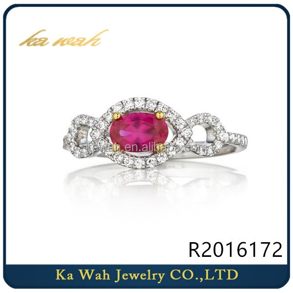 Wholesale Ruby Gemstone Ring Jewelry ,Diamond Ring Gold Jewelry For Women